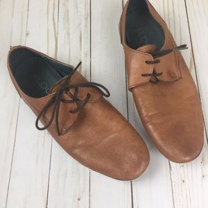 Men's Aldo Brown Lace Up Sneakers Size 10.5
